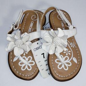Toddler Girl's Cherokee Flower Sandals 7 NEW